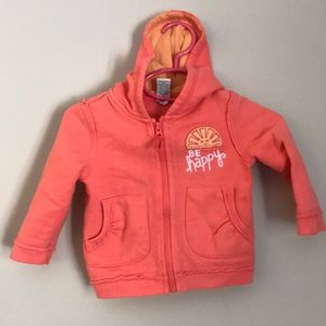 "Orange zipper jacket ""Be happy"""